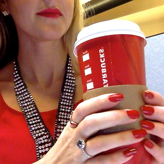 Red Lips, Red Nails, Red Cup