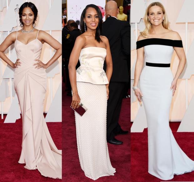 Oscar Dresses in Soft Shades