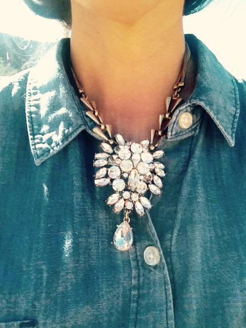 Chambray and mark. Clear Choice Necklace