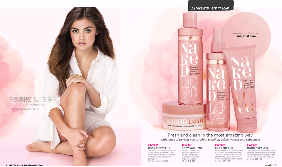 Lucy Hale for mark. Naked Love