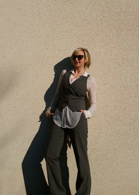 Plaid Pant Suit For Work