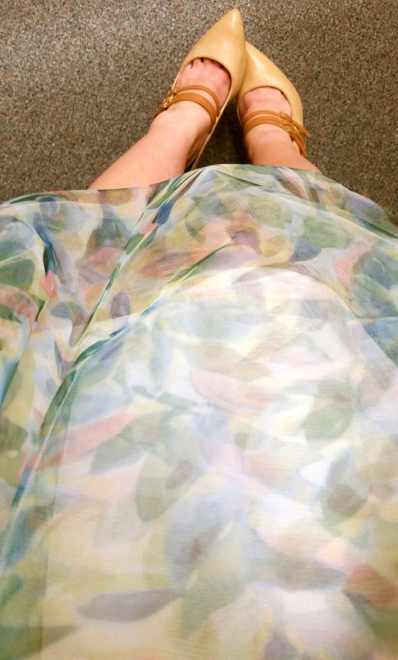LC Lauren Conrad Tulle Skirt and Foil Graphic Tee