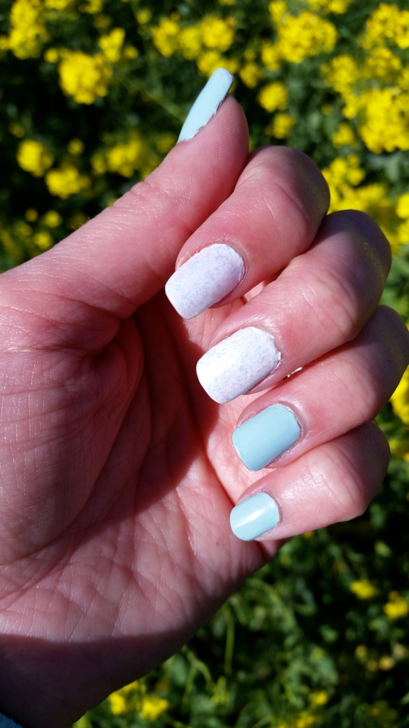 Cinderella's Glass Slipper Inspired Mani