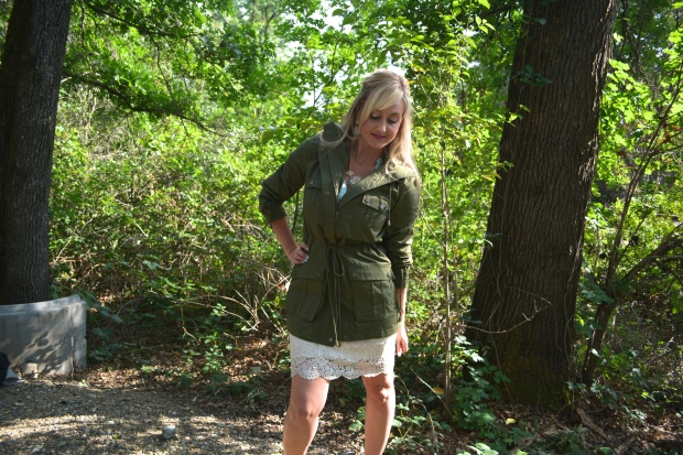 Try This Anorak With Lace or Crochet For Spring