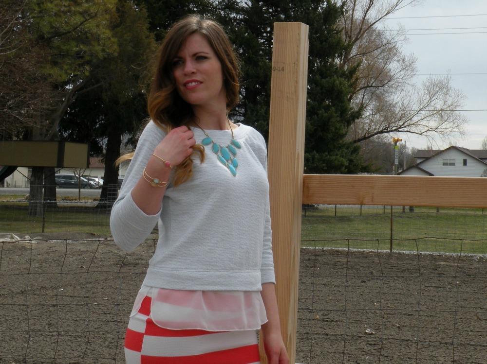 Jill in the mark. Sheer Brilliance Sweatshirt