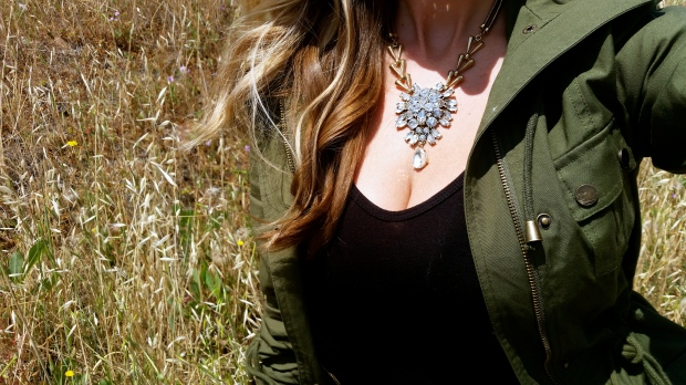 Current Obsessions:  mark. Clear Choice Necklace and Luck Of The Drawstring Anorak