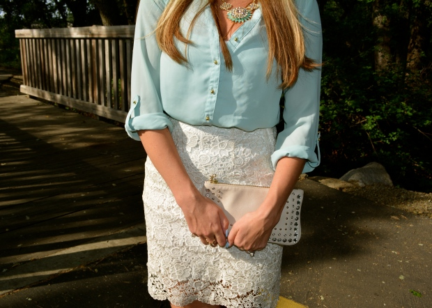 Try pairing your pastels with lace!