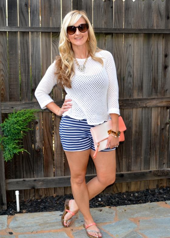 Nautical Shorts, A Beach Sweater & Coral