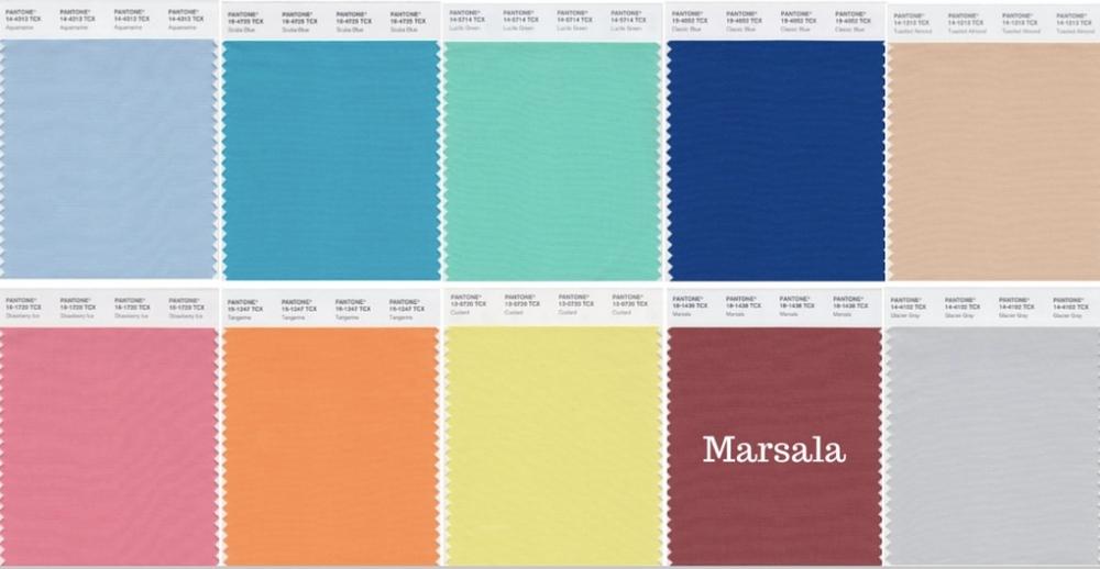 Pantone Color for Spring 2015 Marsala