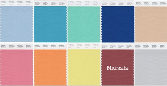 Pantone Color for Spring 2015 Marsala