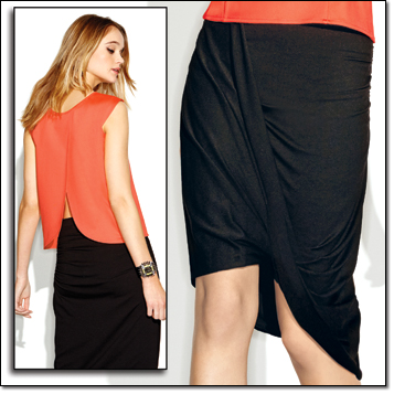 mark. In The Swim Of Things and Taking Sides Skirt for the Tangerine Trend