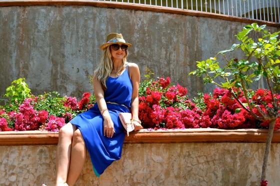 mark. New Angled Slip Dress (reversible, blue side)