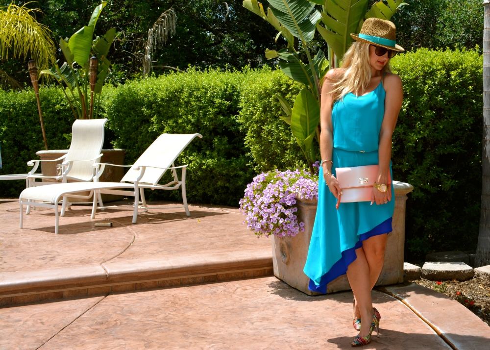 The Turquoise Side Of The New Angled Slip Dress
