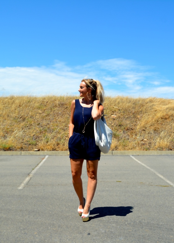 Nautical Navy Romper Look