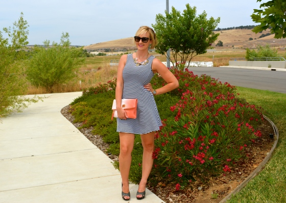 Week O'Nautical - nautical fit and flare dress!