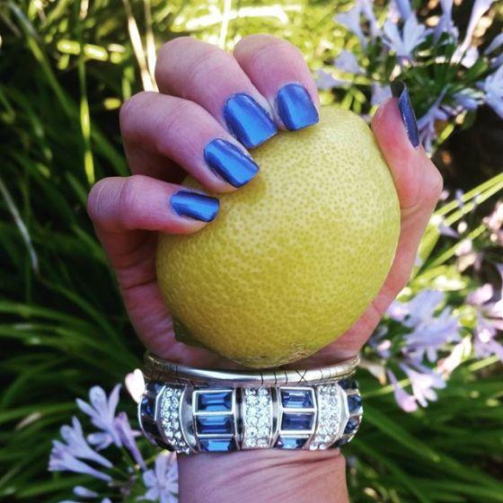 Metallic Summer Blue