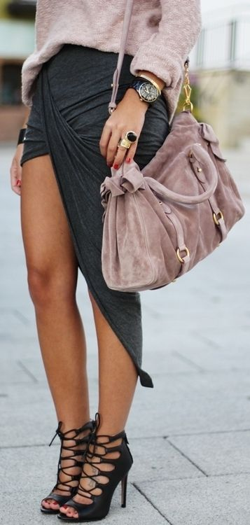 Transition summer skirt to fall