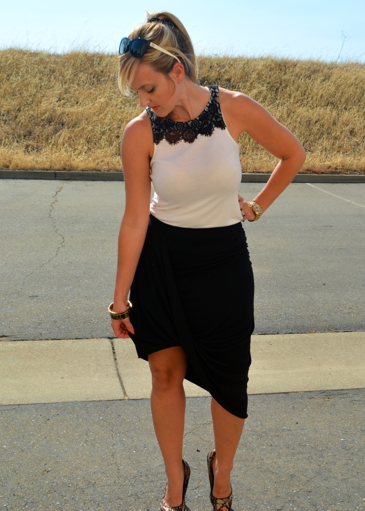 Wrapped and Asymmetrical Skirt