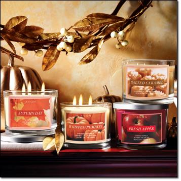 Avon Home Fragrances Fall Candles