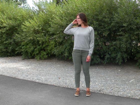 Jill's full look featuring mark. Stroke of Luxe Sweatshirt