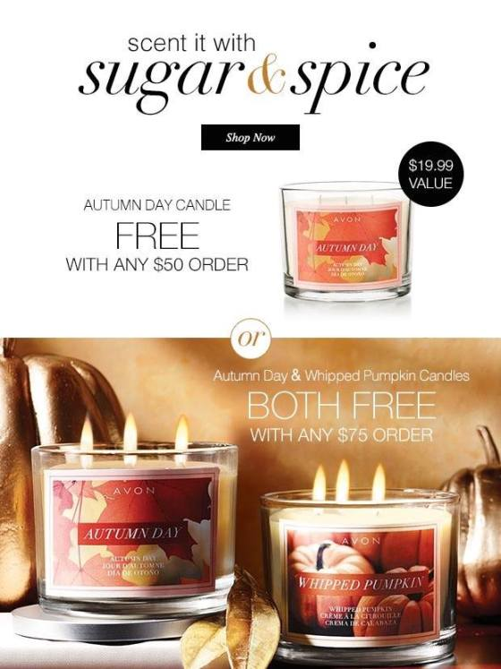 FREE candle at http://www.youravon.com/aliciahessinger with promo code FALLSCENT