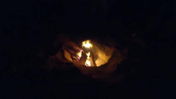 Bonfire On The Beach in Kauai Hawaii