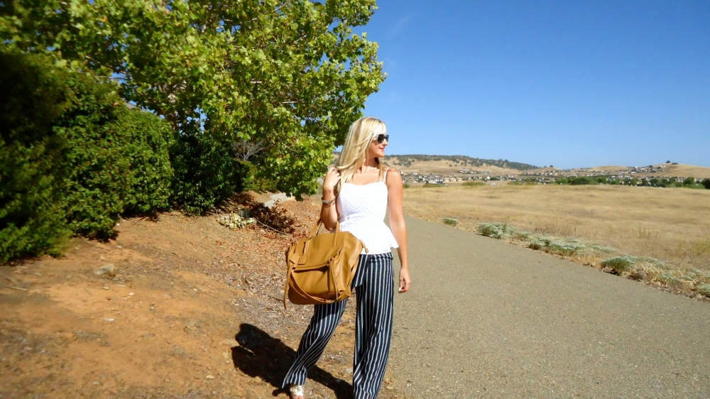 Happy Labor Day With Nautical Striped Pants