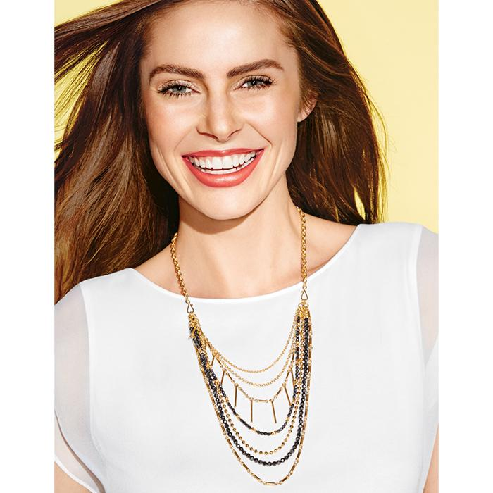 Avon Style Swap Linear Metals Interchangeable Necklace Set