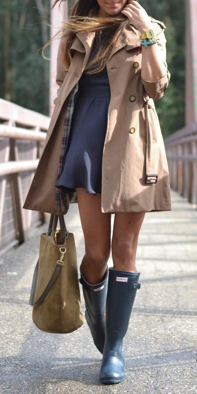 Trench, Dress, Boots...