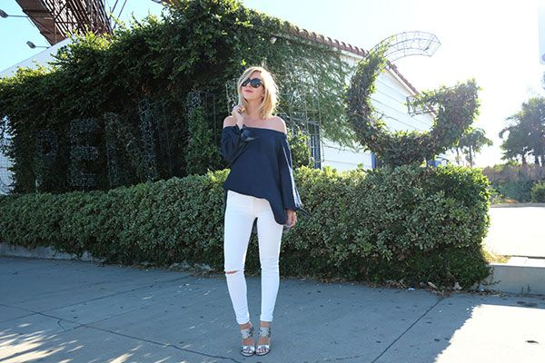 Off The Shoulder and White Jeans