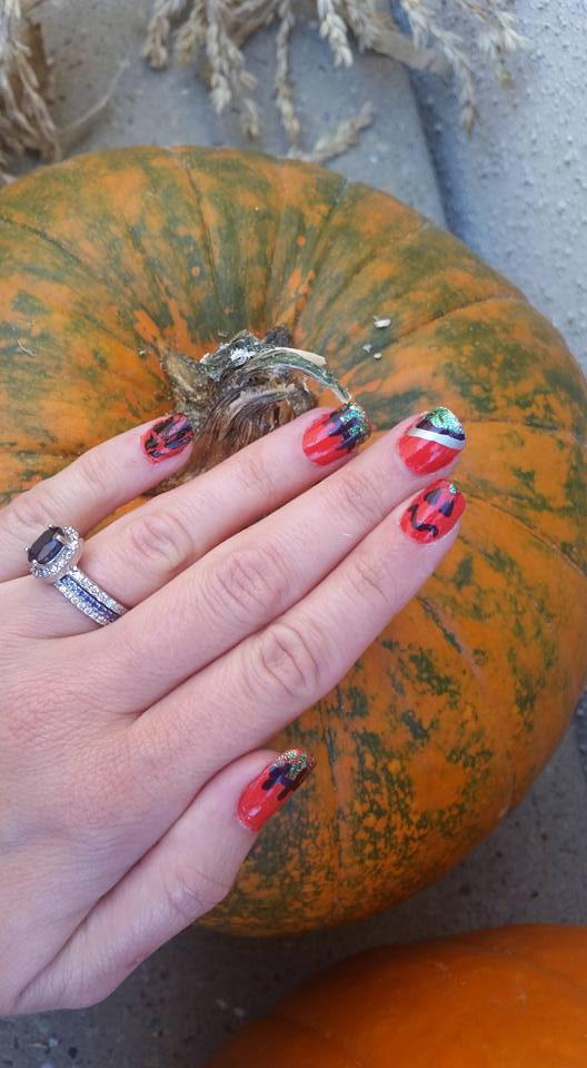 A Frakenstein Of Mixed Halloween Nail Ideas