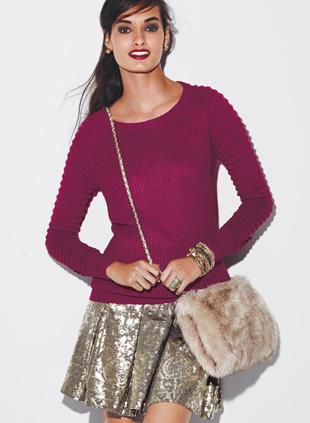 mark. Strike It Rich Skirt and Favorite Wine Sweater