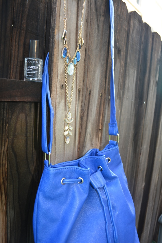 Avon Drawstring Bag and Midnight Ink Style Swap Necklace