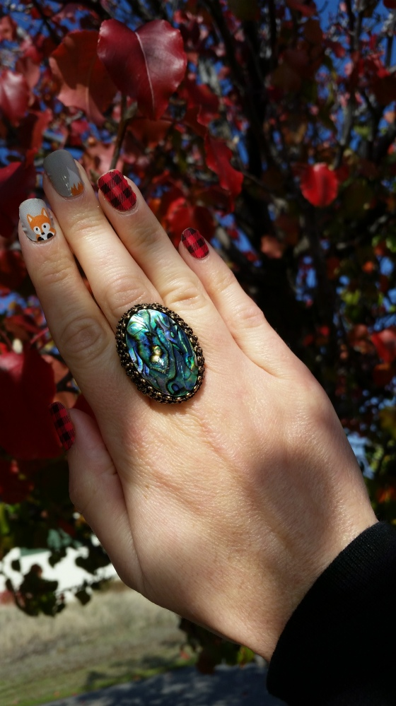 Thanksgiving Nails and mark. Let Your Finger Do The Talking Ring
