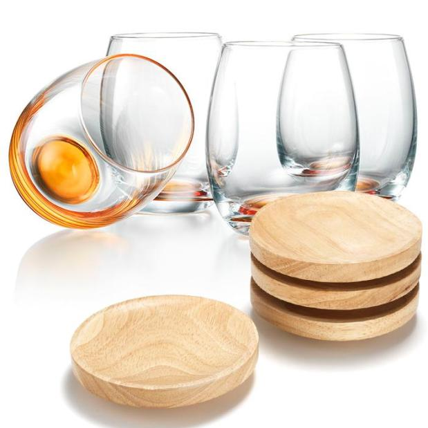 Wine Glass and Plate Set - $29.99