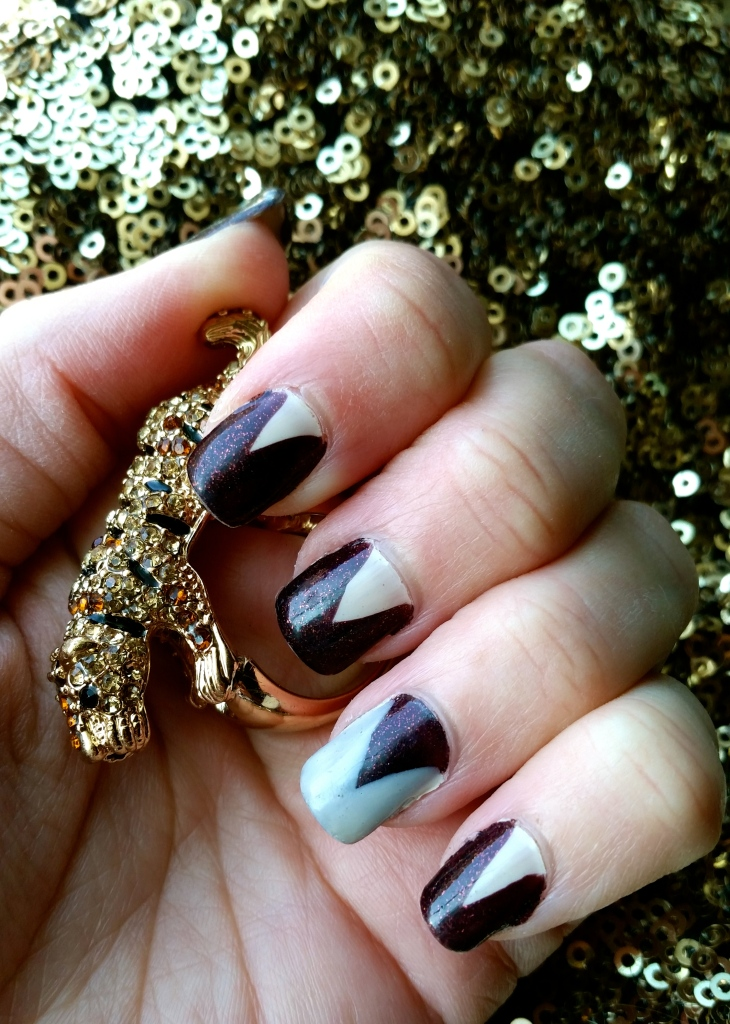 Easy Holiday Nail Art with mark. Nailed It Duo in Eggnog and Sugarplum