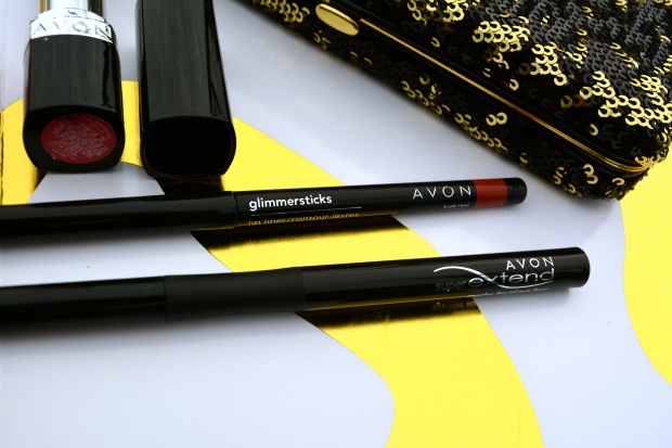 Avon Glimmersticks Lip Liner and Avon Super Extend Precise Liquid Liner
