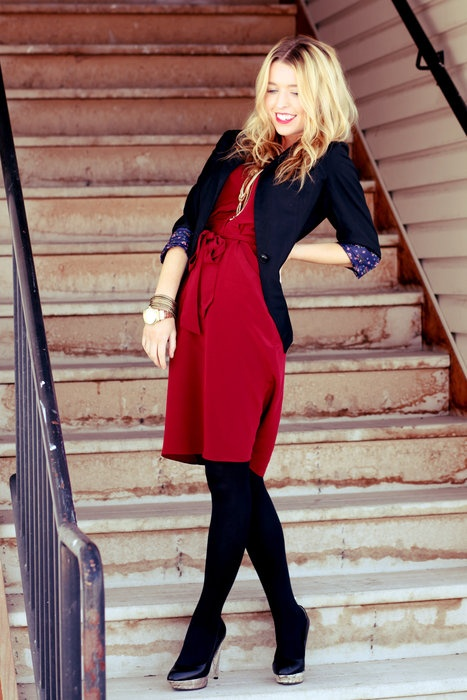 Red And Black For Festive Work Wear