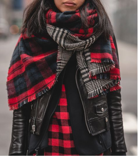 Plaid Scarfs On Point