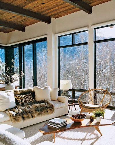 Aerin Lauder's Chic Cabin Life