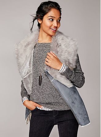mark. Make Me Plush Vest Layered For A Winter Look