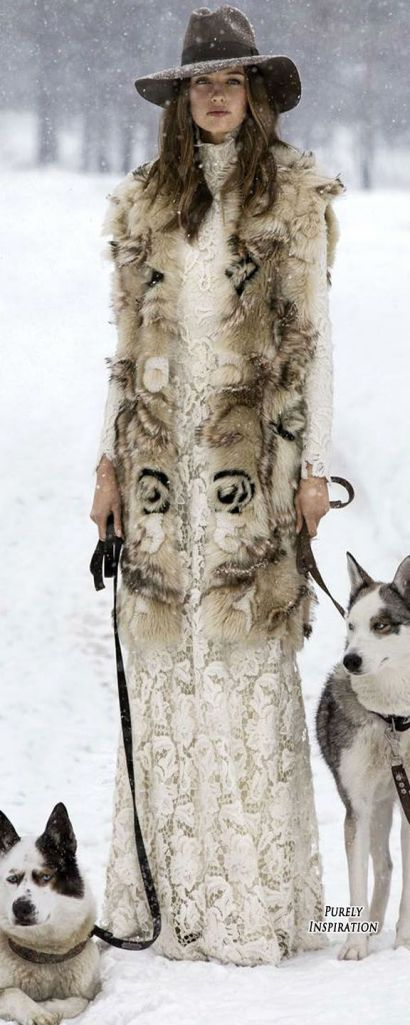 Fur and Lace via Ralph Lauren