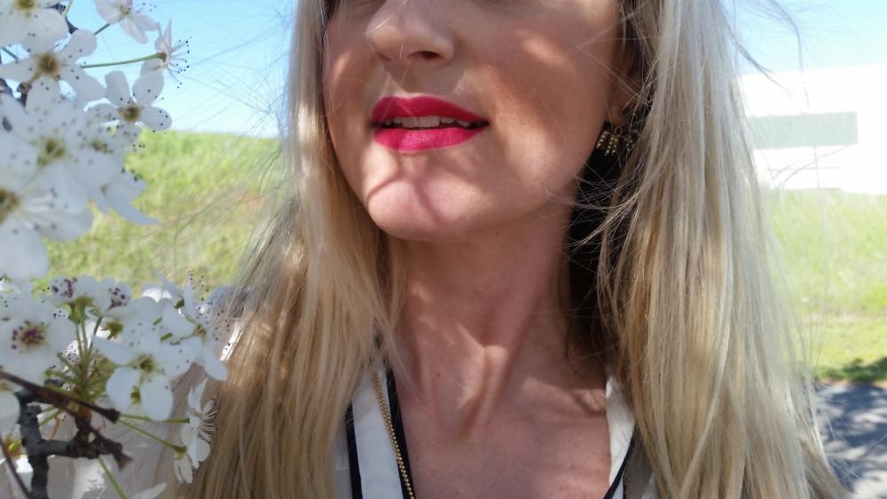 For Lips:  Avon Perfectly Matte in Ravishing Rose
