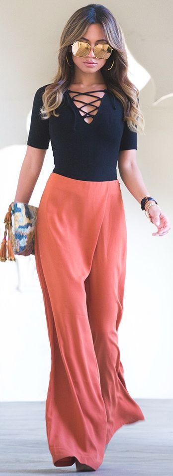 Lace Up Top and Maxi