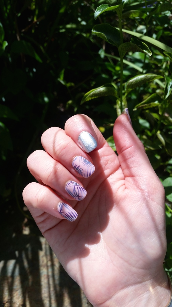 Jamberry Rose Quartz Getaway with Essie Apres Chic