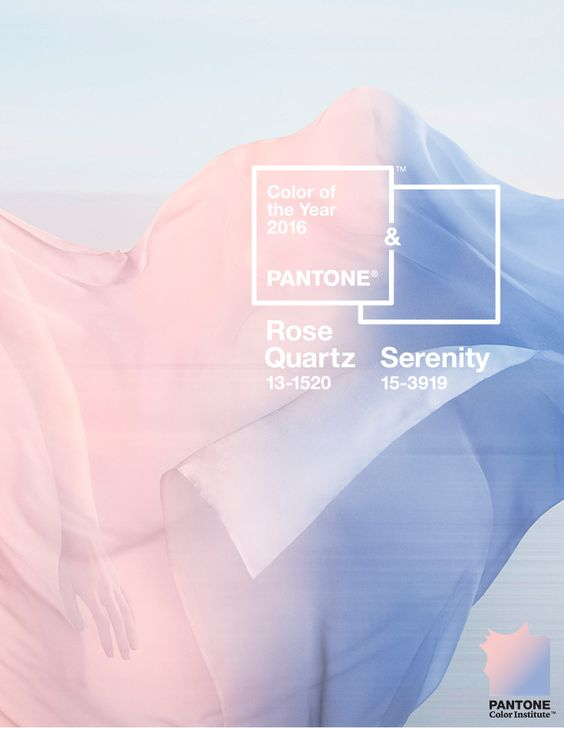 Color Of The Year: Rose Quartz and Serenity