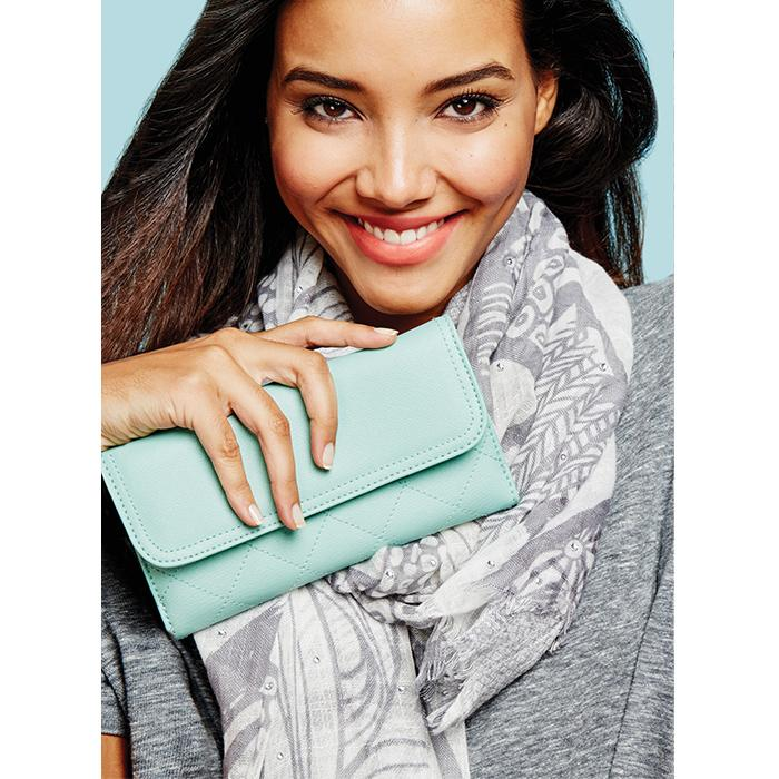 mark. Subtle Sparkle Scarf and In The Money Wearable Wallet