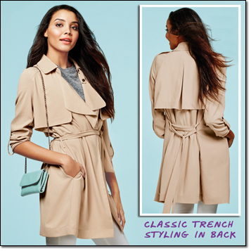 mark. Soft Touch Trench