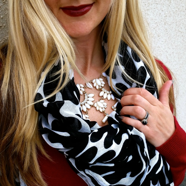Paprika Print Scarf and Avon Lipstick in Chocolate Rose