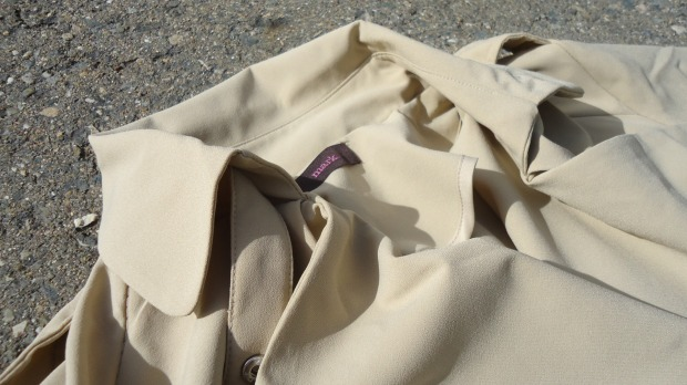 mark. Soft Touch Trench Collar Detail